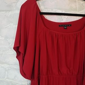 Tiana B. solid red dress size L large